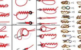 Как привязать крючок к леске: самые популярные виды узлов